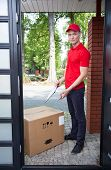 Delivery Man With A Big Box