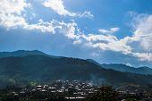 Cloudy mountain landscape