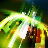 Abstract Energy Growing Wave Corner
