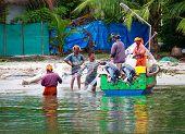 Indian fishmen  in Kerala backwaters