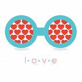 Hearts Reflection Eyeglasses.
