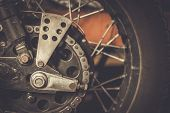Motorcycle sprocket and custom chain guard