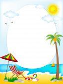Tropical Beach Oval Frame