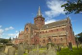 Scottish Church And Cemetery In Orkney. St Magnus. Scotland. Uk