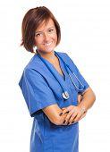 Smiling young nurse portrait