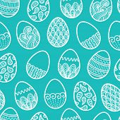 Outline easter eggs pattern