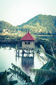 Small house, Cat Ba island at Ha Long Bay in Vietnam