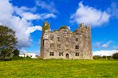 stock photo of ireland  - Leamaneh castle in Burren - JPG