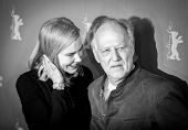 BERLIN, GERMANY - FEBRUARY 06: Nicole Kidman, Werner Herzog, photocall 'Queen of the Desert' during the 65th Film Festival at Hyatt Hotel on February 6, 2015 in Berlin, Germany.
