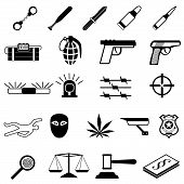Crime Icons set