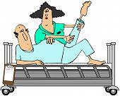 Patient in rehabilitation