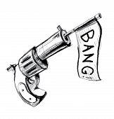Revolver icon with checkbox