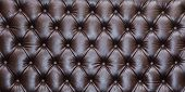 Brown Leather Texture - Background, Brown Leather Texture Of Sofa Closeup Shot.