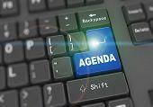 3D Keyboard - Word Agenda