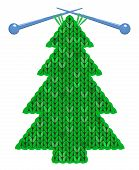 The Christmas Tree Knitted On Spokes