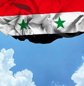 Syria waving flag on a beautiful day