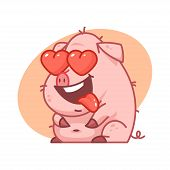 Pig character in love