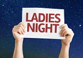 picture of ladies night  - Ladies Night card with a beautiful night - JPG