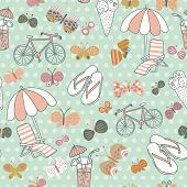 image of you are awesome  - Awesome seamless pattern with summer elements - JPG