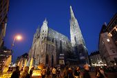 VIENNA, AUSTRIA - OCTOBER 10: St. Stephen cathedral in center of Vienna, Austria on October 10, 2014