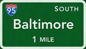 Baltimore USA Interstate Highway Sign