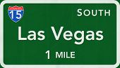 Las Vegas USA Interstate Highway Sign