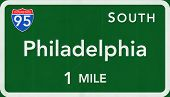 Philadelphia USA Interstate Highway Sign