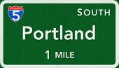 Portland USA Interstate Highway Sign