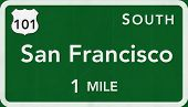 San Francisco USA Interstate Highway Sign