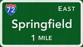 Springfield USA Interstate Highway Sign