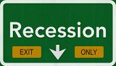 Recession Highway Road Sign Exit Only