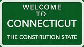 Connecticut USA Welcome to Highway Road Sign