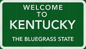 Kentucky USA Welcome to Highway Road Sign