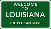 Louisiana USA Welcome to Highway Road Sign