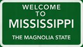 Mississippi USA Welcome to Highway Road Sign