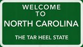 North Carolina USA Welcome to Highway Road Sign