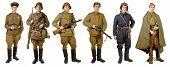 Different Soviet Soldier Uniforms During World War Ii