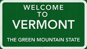 Vermont USA Welcome to Highway Road Sign