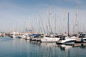 Luxury Yachts Resting At Larnaca Marina In Cyprus