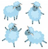 Four Cute Lambs
