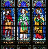 Saints on stained glass