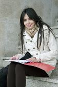 picture of academia  - university outdoors lifestyle of young students - JPG