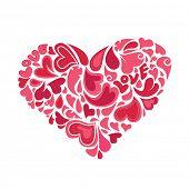 hearts within heart vector