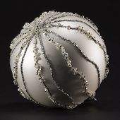 Sparkling Silvery Christmas Ball, Tree Decoration