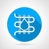 Round vector icon for water underfloor heating