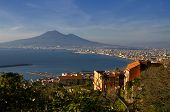 Bay Of Naples And Mount Vesuvius