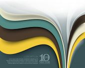 eps10 vector elegant multicolor business wave lines elements background illustration