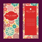Vector abstract decorative circles vertical frame pattern invitation greeting cards set
