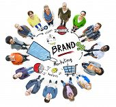 Diverse People Aerial View Marketing Brand Concept