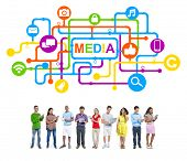 Multi-Ethnic Group of People Media Concepts